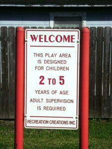 Harwood Park Play Area Sign