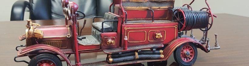Model Antique Fire Engine