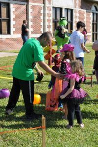 Children Partaking in Games at Boo-Berg